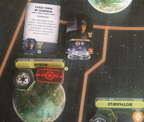 L'amiral Ozel sur le lieu de ses exploits, se frisant la moustache au souvenir de son coup d'éclat