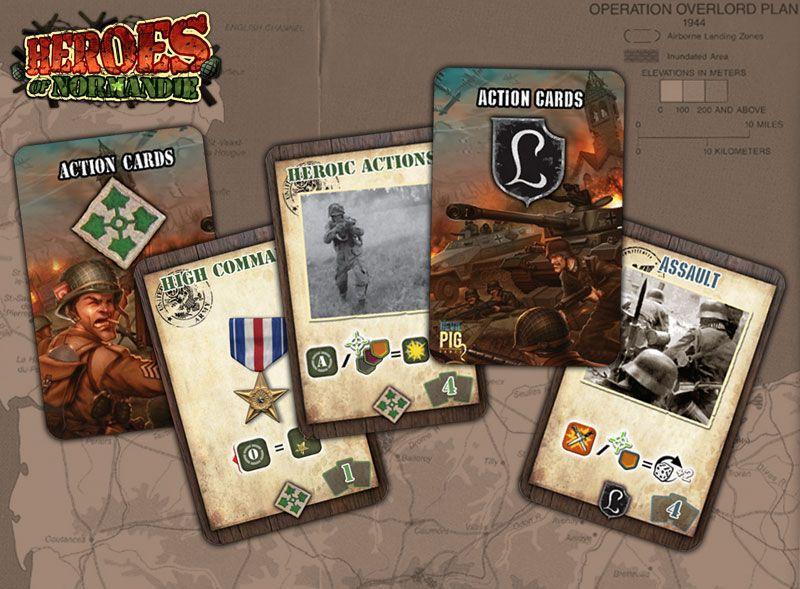 Heroes Of Normandie cartes