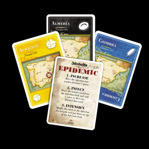 Pandemic Iberia cartes