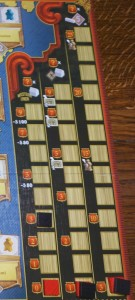 Les pistes : à gauche, le télégraphe ; au centre, les gares ; à droite, les villes de la côté ouest