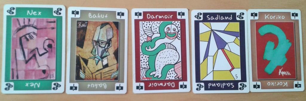Nos cinq artistes, tous avec des styles très différents.