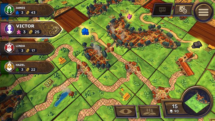 carcassonne-3d-gameplay ludovox