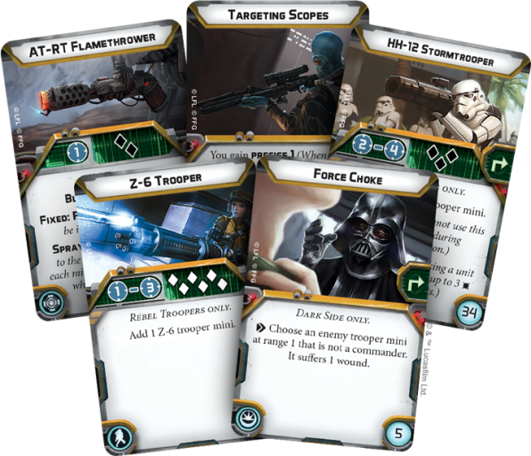 cartes star wars legion