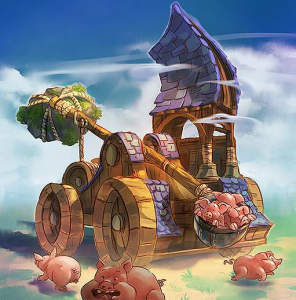 catapulte de cochons