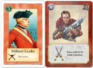Notez l'évolution de l'équipement et de l'attitude chez les chefs militaires