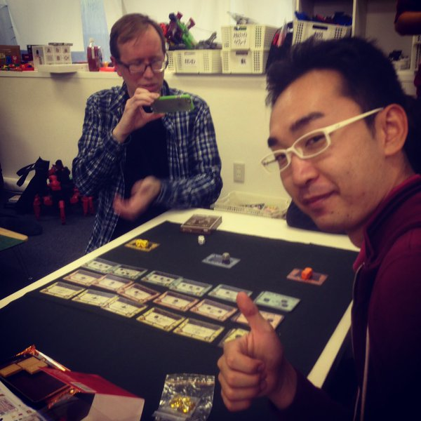 Shimpei Sato, sous l'œil d'Eric Martin.