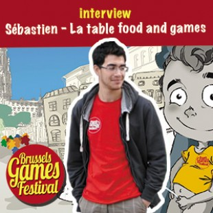Brussels Games Festival 2015 – Interview Sébastien – La table food and games – VF