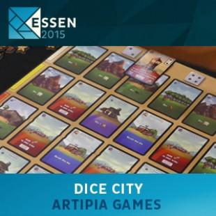Essen 2015 – jeu Dice city – Artipia games – VOSTFR