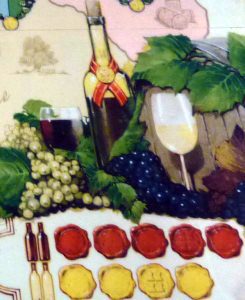 En bas la pistes des scores vin rouges et vins blancs