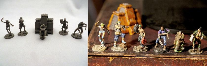 Figurines non peintes & peintes