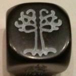 dé noir arbre