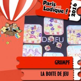 Paris est ludique 2016 – Jeu Grumpf – La boîte de jeu – VF