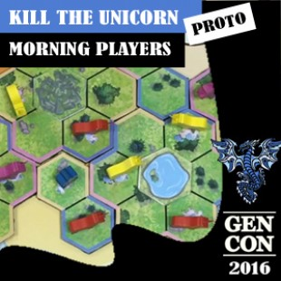 GenCon 2016 – Jeu Kill the unicorns – Morning Players – VF