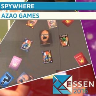 ESSEN 2016 – JEU SPYWHERE – AZAO GAMES – VF