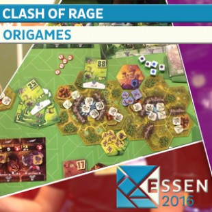ESSEN 2016 – JEU CLASH OF RAGE – ORIGAMES – VF
