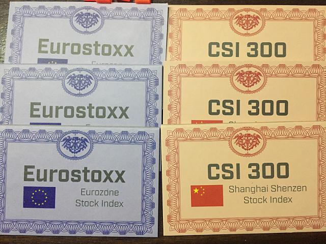 Mes actions. J'ai décidé de me concentrer sur l'Europe et la Chine.