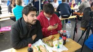 Pause de midi, cette fois on fait plus sobre avec les sandwichs