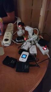 Chargement des batteries pour le lendemain