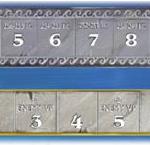Compte-tour (en haut) et piste de pillages (en bas)