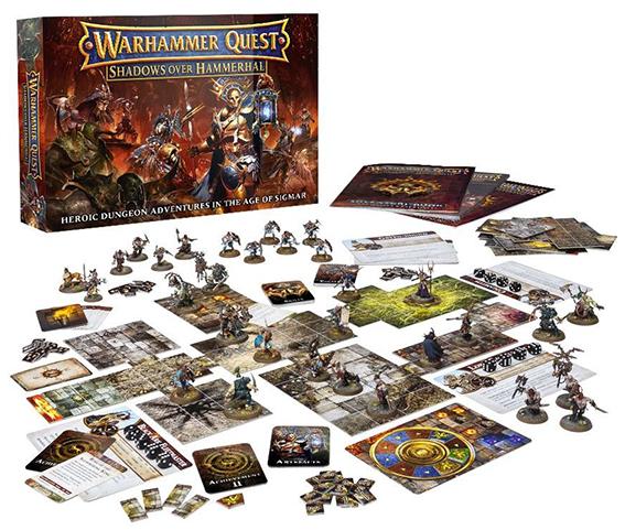 Warhammer Quest Shadows Over Hammerhal-games workshop-Materiel-Jeu de societe-ludovox