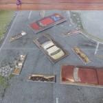 Le plateau ainsi que les décors cartons