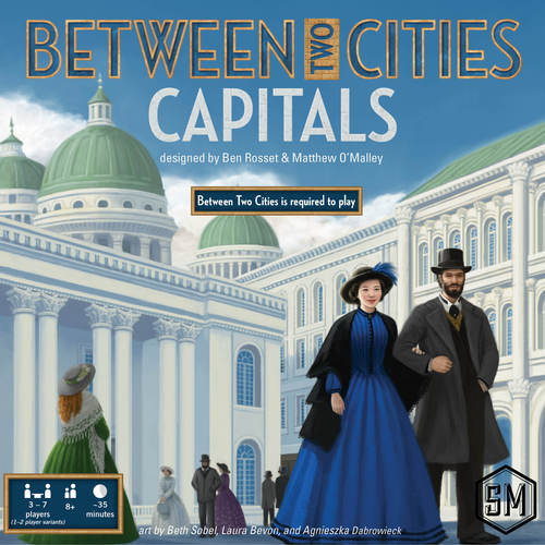 Between Two Cities Capitals boite de jeu