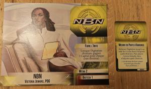 La fiche de corporation NBN et sa carte d'action spéciale