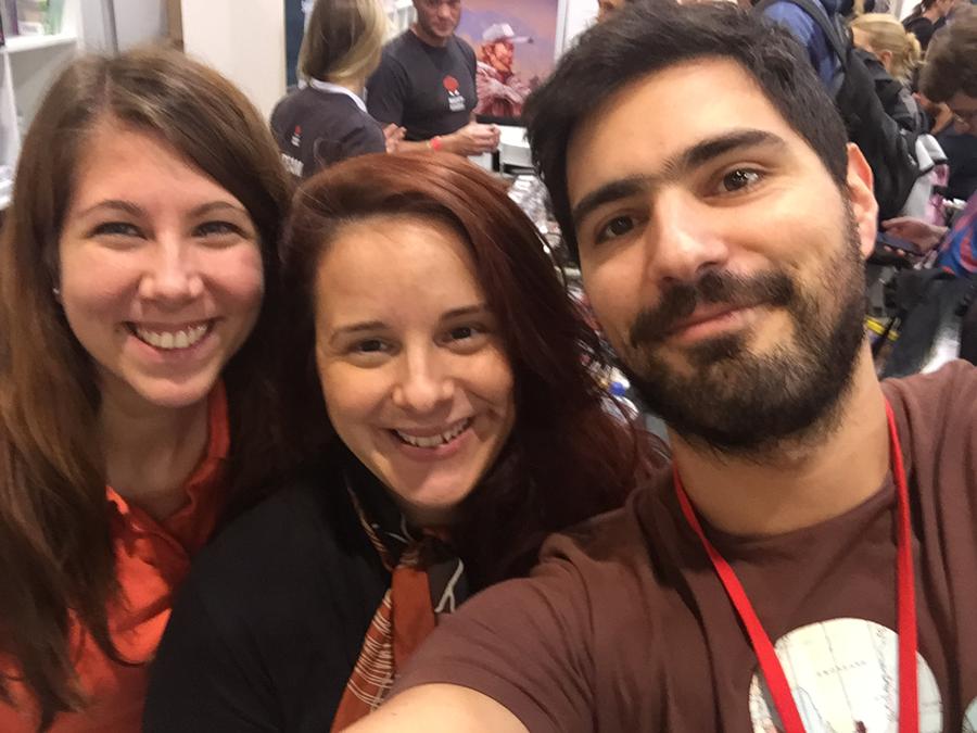 Selfie avec Villő Farkas, la talentueuse directrice artistique de MindClash