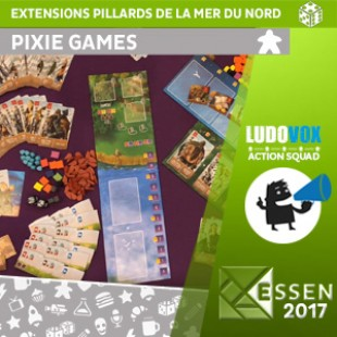 Essen 2017 – Extensions Pillards de la mer du nord – Pixie Games – VOSTFR
