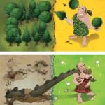 Kigdomino-Age of giants-Materiel-Jeu de societe-ludovox