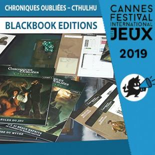 FIJ 2019 – Chroniques Oubliées : Cthulhu  – BlackBook Editions