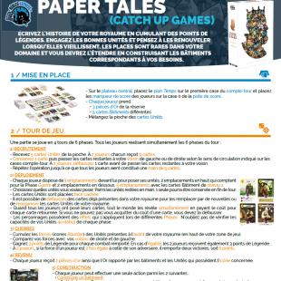 Règle express : fiche résumé Paper Tales
