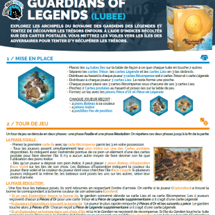 Règle express : fiche résumé Guardians of Legends