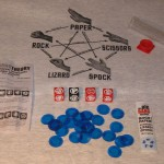 JEU The Big Bang Theory Rock! Paper! Scissors! Lizard! Spock! Dice Game