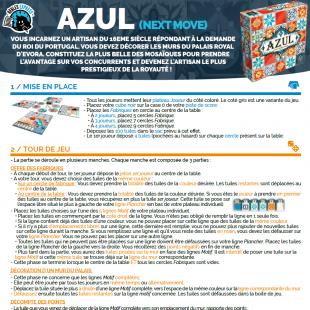 Règle express : fiche résumé Azul