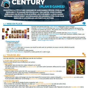 Règle express : fiche résumé Century : La route des épices