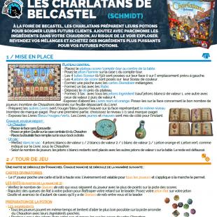 Règle express : fiche résumé Les Charlatans de Belcastel